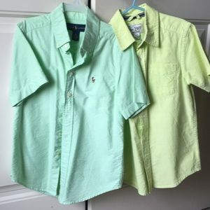 Boy shirts Like NEW sizes 5-6 and 8 (small).